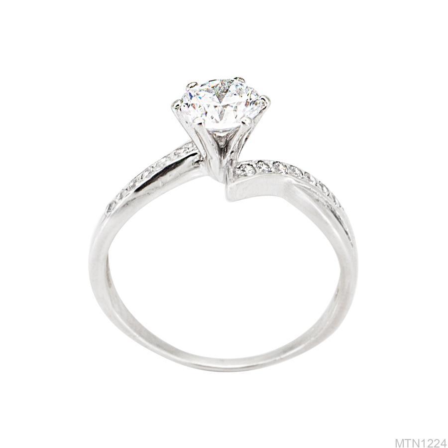 MTN1224 Nhẫn nữ vàng trắng đính đá đẹp