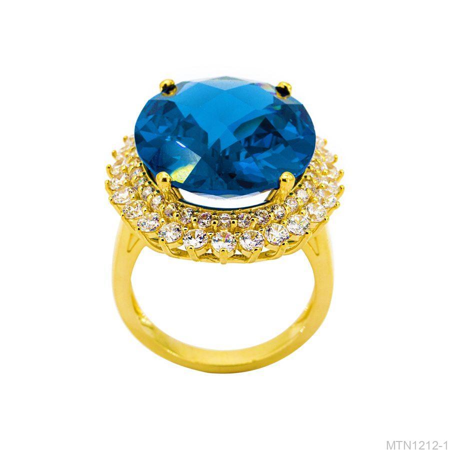 MTN1212-1 Nhẫn nữ đá sarphire vàng 18k
