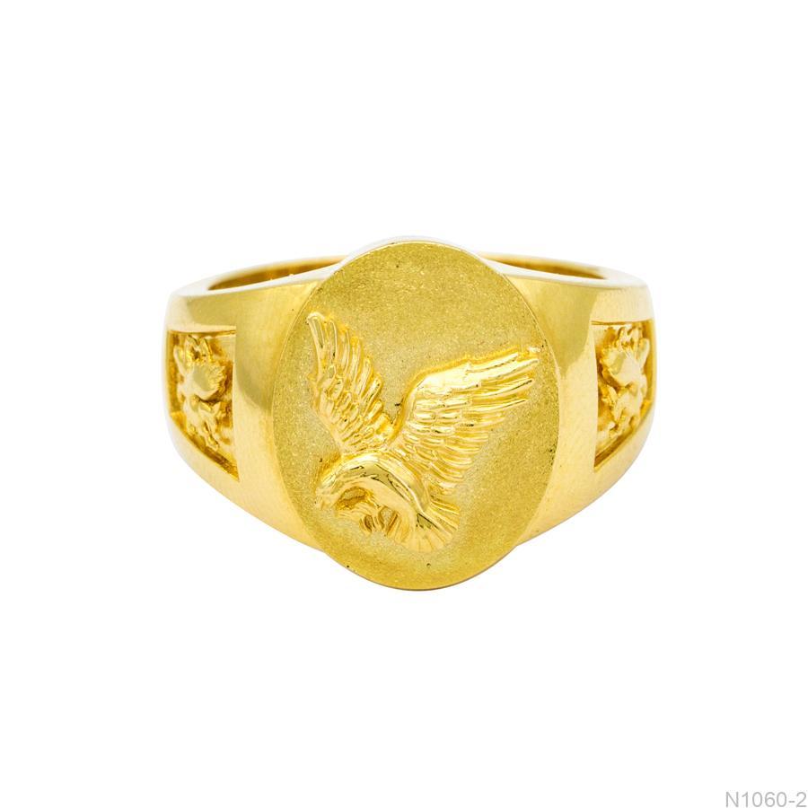 N1060-2-2 Nhẫn nam chim ưng vàng 18k