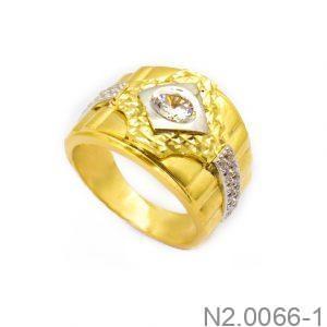Nhẫn Nam Vàng 18k Đính Đá CZ - N2.0066-1