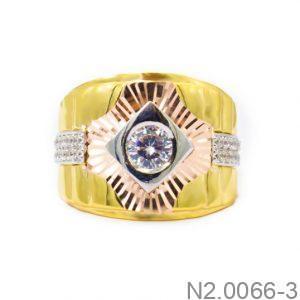 Nhẫn Nam Vàng 18k Đính Đá CZ - N2.0066-3