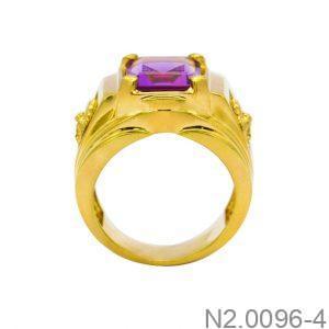 Nhẫn Nam Vàng Vàng 14K Đính Đá CZ - N2.0096-4