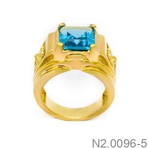 Nhẫn Nam Vàng Vàng 14K Đính Đá CZ - N2.0096-5