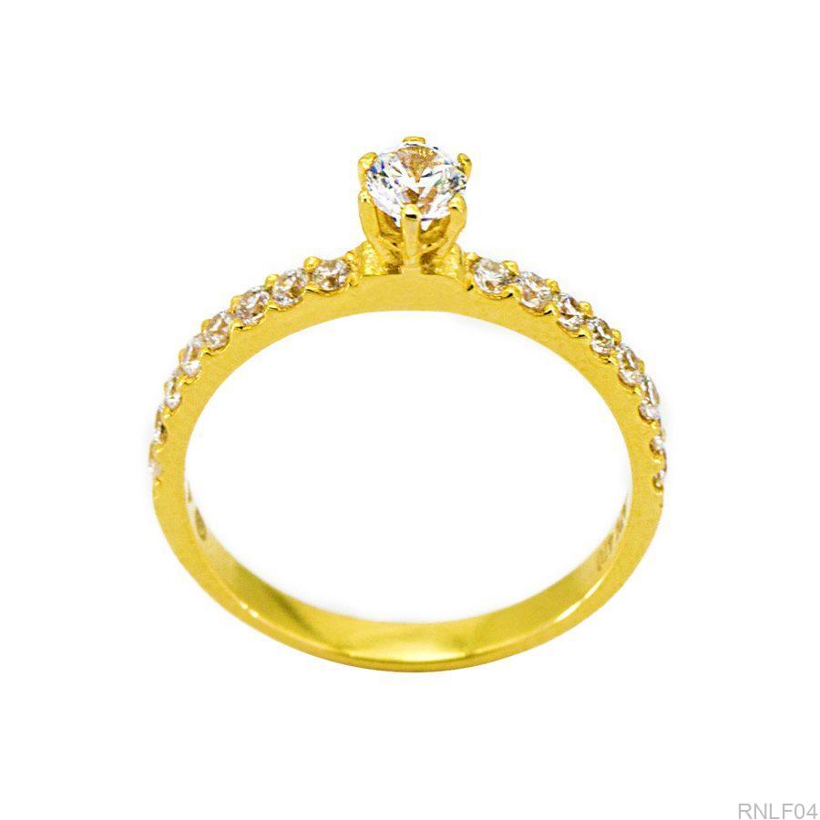 Nhẫn Nữ Vàng 10K Đính Đá CZ - RNLF04