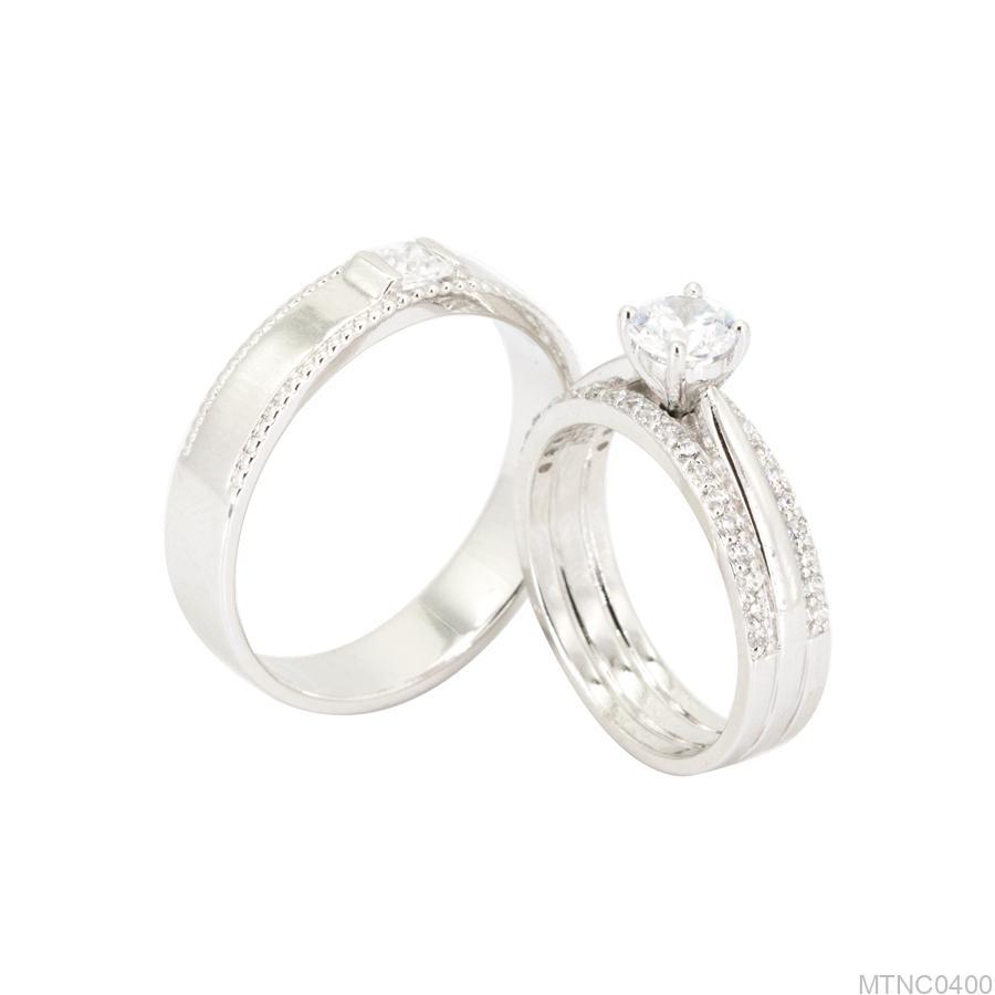 Yếu tố nào quyết định giá nhẫn cưới vàng trắng? MTNC0400-1