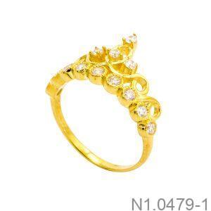 Nhẫn Nữ Vàng 18K Đính Đá CZ - N1.0479-1