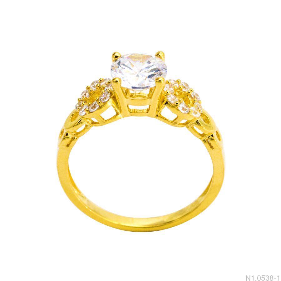 Nhẫn Nữ Vàng 18K Đính Đá CZ - N1.0538-1