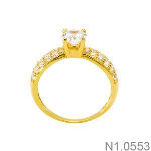 Nhẫn Nữ Vàng 18K Đính Đá CZ - N1.0553