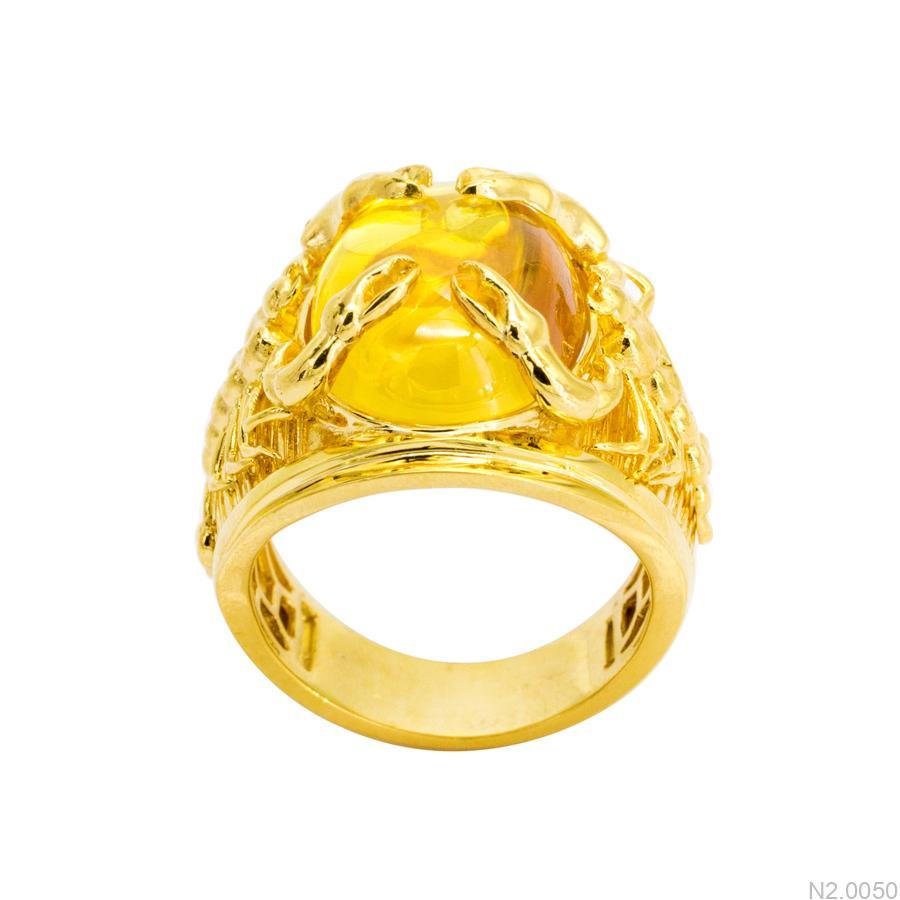 N2.0050 Nhẫn nam vàng vàng kiểu bò cạp