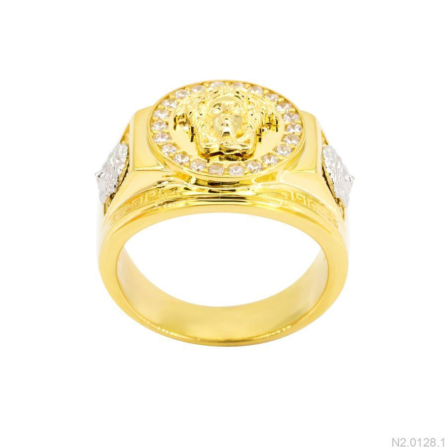 Nhẫn Nam Versace Hai Màu Vàng 18K - N2.0128.1