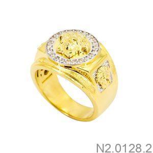 Nhẫn Nam Vàng 18K Đính Đá CZ - N2.0128.2