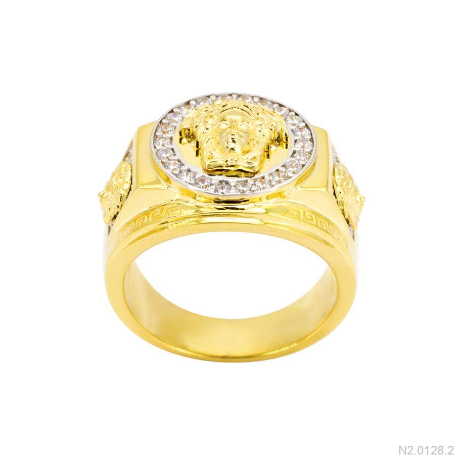 Nhẫn Nam Versace Hai Màu Vàng 18K - N2.0128.2