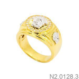 Nhẫn Nam Versace Hai Màu Vàng 18K - N2.0128.3