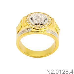 Nhẫn Nam Versace Hai Màu Vàng 18K - N2.0128.4