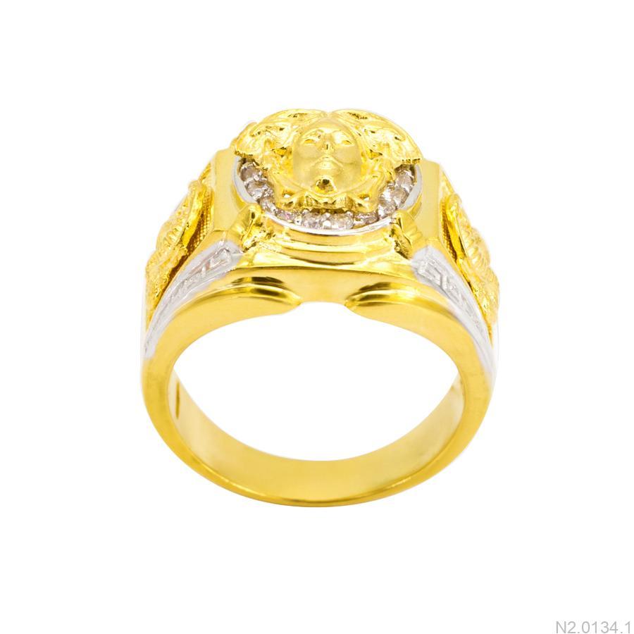 Nhẫn Nam Versace Hai Màu Vàng 18K - N2.0134.1