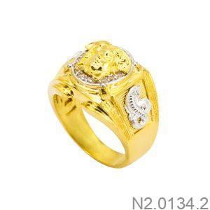 Nhẫn Nam Versace Hai Màu Vàng 18K - N2.0134.2