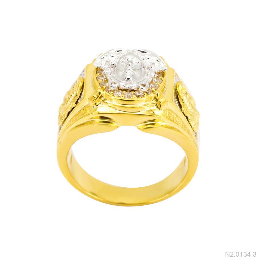 Nhẫn Nam Versace Hai Màu Vàng 18K - N2.0134.3