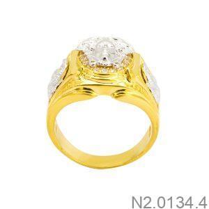 Nhẫn Nam Versace Hai Màu Vàng 18K - N2.0134.4
