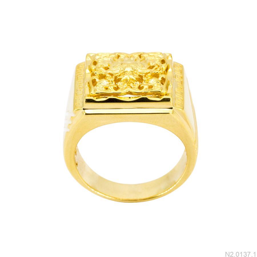 Nhẫn Nam Rồng Vàng Vàng 10K - N2.0137.1