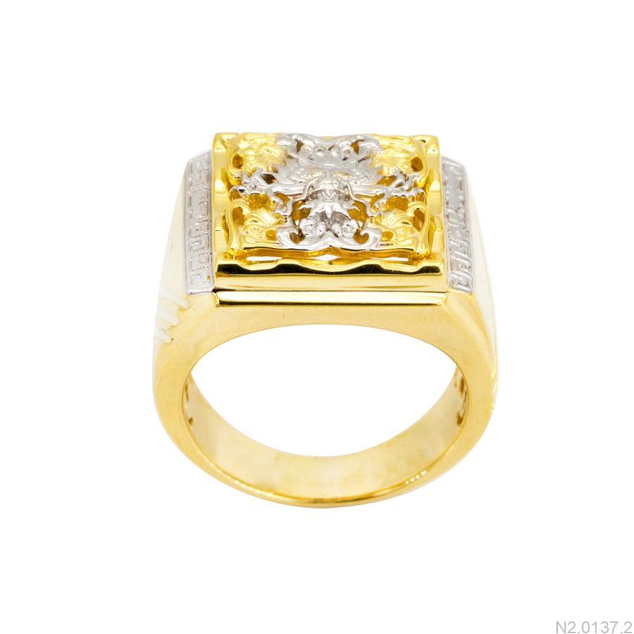 N2.0137.2 Nhẫn nam vàng 10k 2 màu