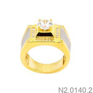 Nhẫn Nam Vàng Vàng 10K Đính Đá CZ - N2.0140.2
