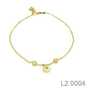 Lắc Chân Vàng 18K - L2.0004