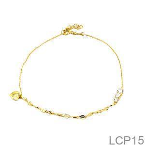 Lắc Chân Vàng 18K - LCP15