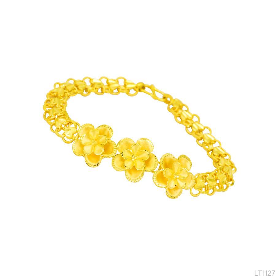 lắc tay cưới vàng 24k hoa mai