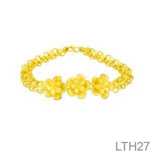 lắc tay cưới vàng 24k hoa mai LTH27-1
