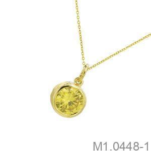 Mặt Dây Nữ Vàng 18K Đính Đá CZ - M1.0448-1