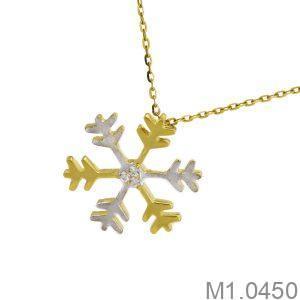 Mặt Dây Nữ Vàng 18K Đính Đá CZ - M1.0450