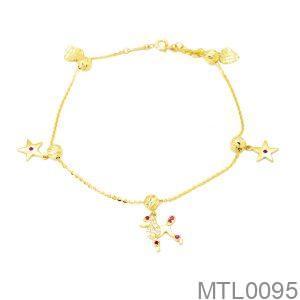 Lắc Chân Vàng 18K - MTL0095