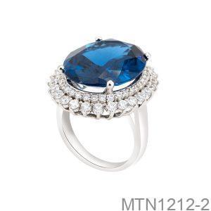 Nhẫn Nữ Vàng Trắng 10K Đính Đá CZ - MTN1212-2