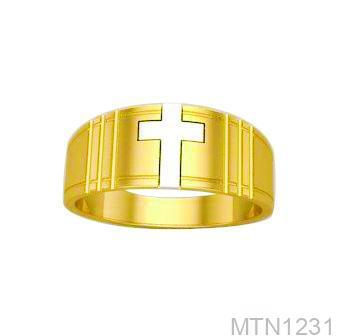 Nhẫn Nam Hình Thánh Giá Vàng Vàng 18K - MTN1231