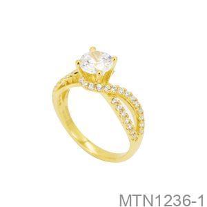 Nhẫn Nữ Vàng 10K Đính Đá CZ - MTN1236-1