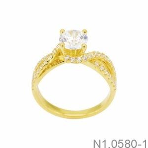 Nhẫn Nữ Vàng 10K Đính Đá CZ - N1.0580-1
