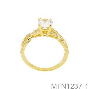 Nhẫn Nữ Vàng 10K Đính Đá CZ - MTN1237-1