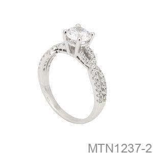 Nhẫn Nữ Vàng Trắng 10K Đính Đá CZ - MTN1237-2