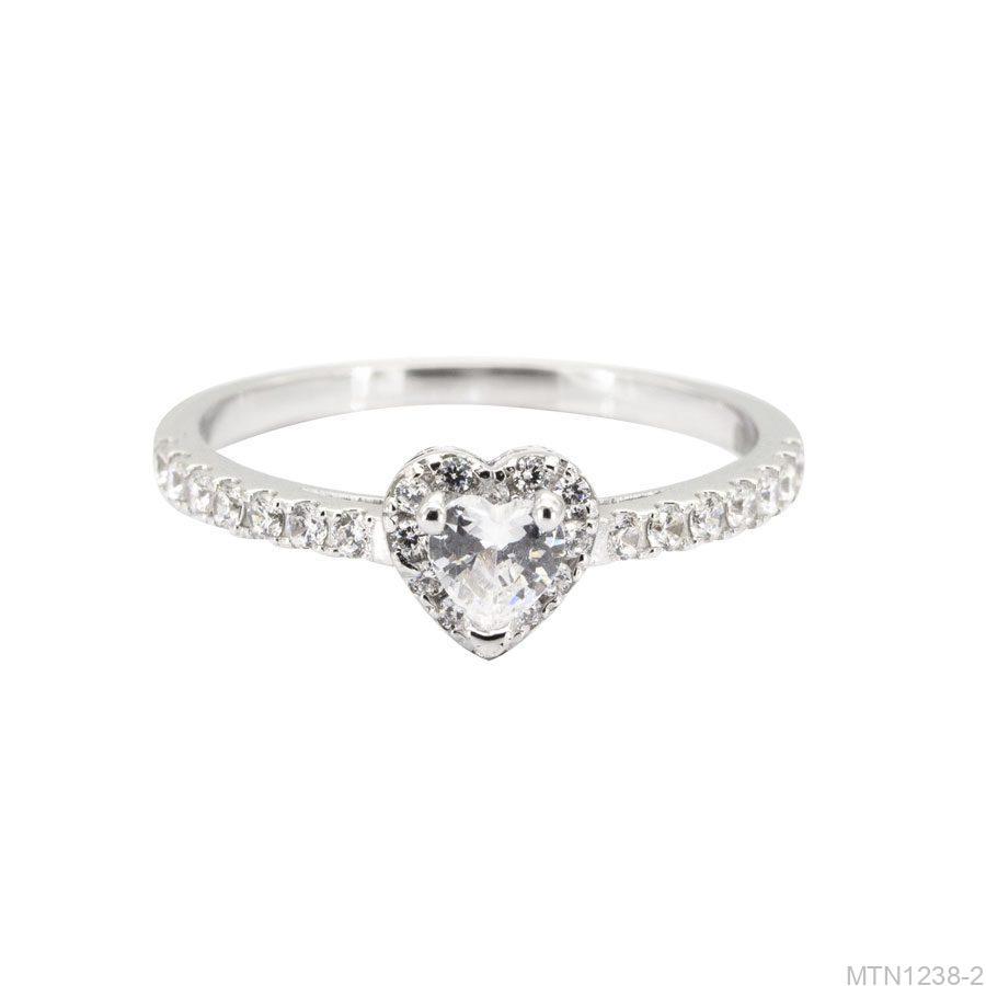 MTN1238-2-2 Nhẫn cầu hôn vàng trắng 10k rẻ đẹp