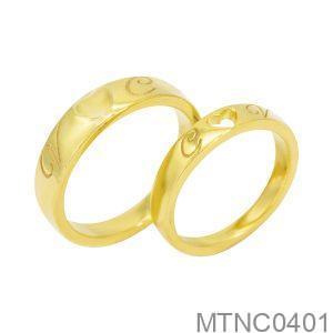 Nhẫn cưới vàng vàng 18k đẹp APJ MTNC0401