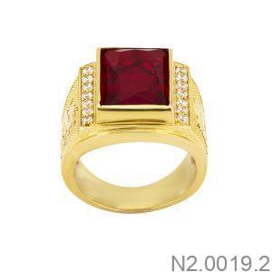 Nhẫn Nam Vàng 18K Đính Đá CZ - N2.0019.2