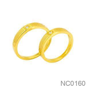 Nhẫn cưới vàng vàng 18k đẹp rẻ NC0160