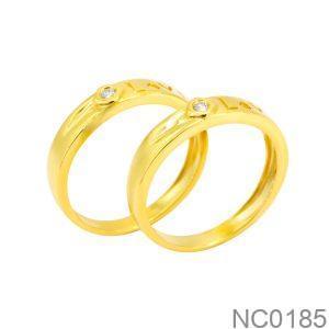 Nhẫn cưới vàng vàng 18k đẹp rẻ NC0185