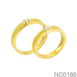 Nhẫn cưới vàng vàng 18k NC0186