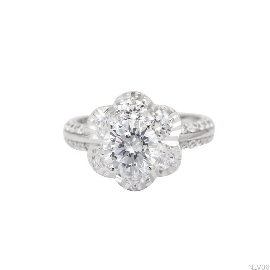 Nhẫn đính hôn vàng trắng 10k NLV06-2