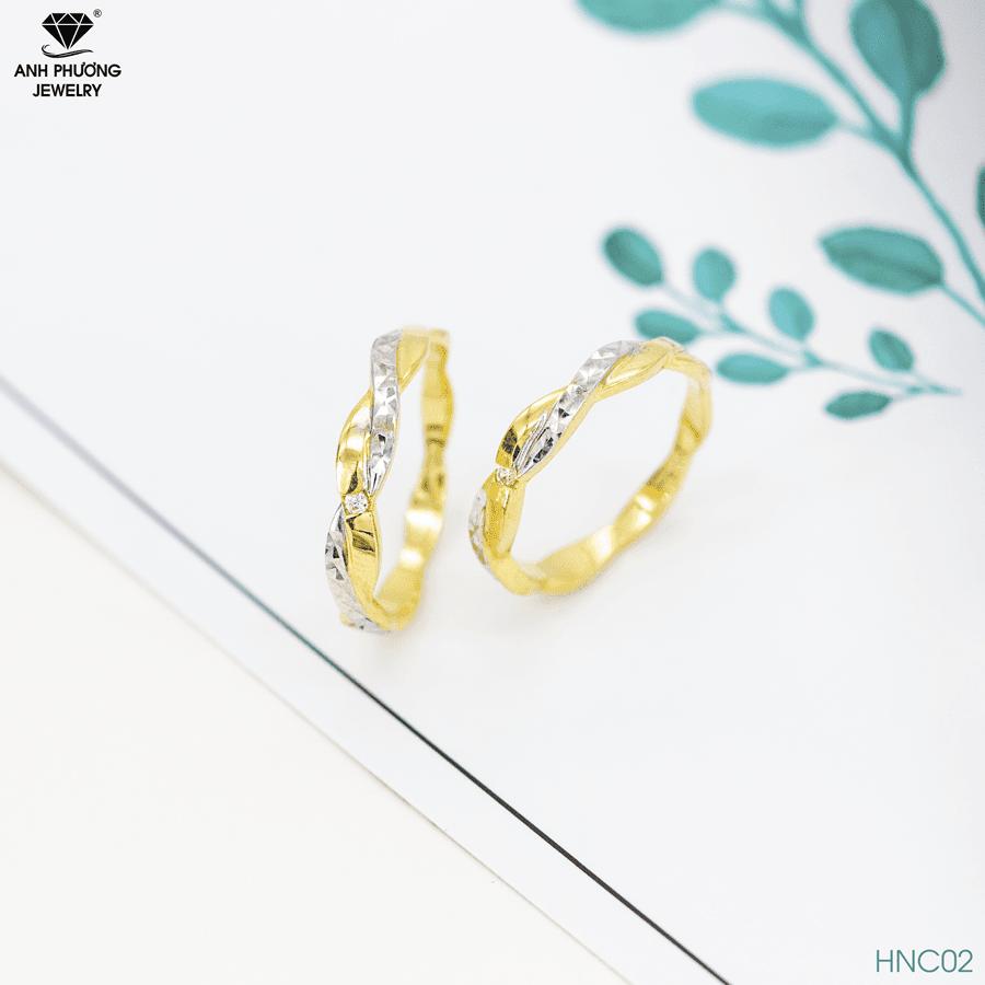Nhẫn cưới hai màu HNC02