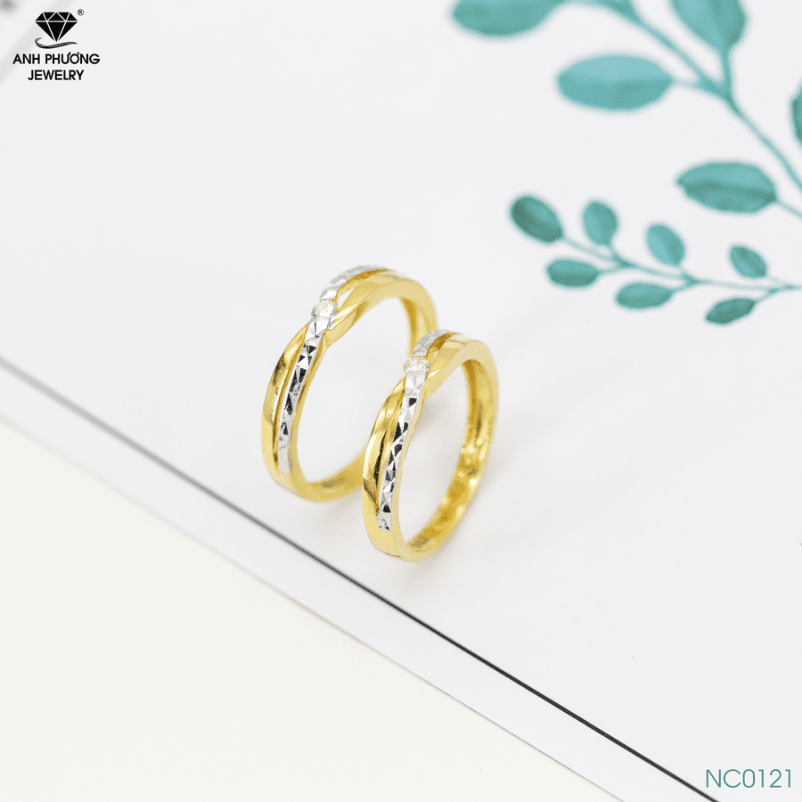 Nhẫn cưới hai màu NC0121