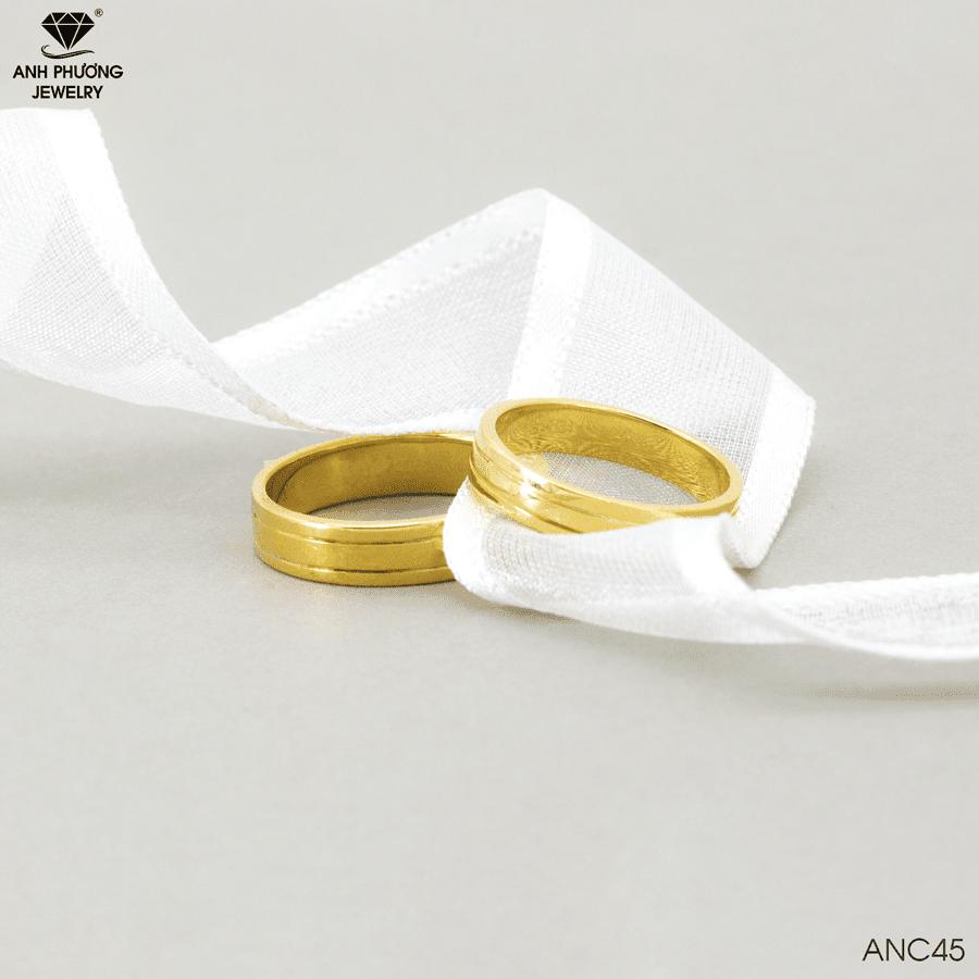 Nhẫn cưới trơn ANC45