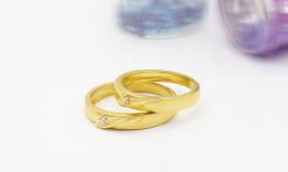 Nhẫn cưới vàng NC0164