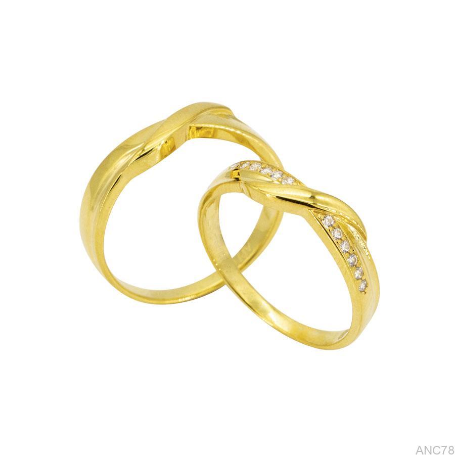 ANC78-1 Nhẫn cưới vàng vàng 18k APJ